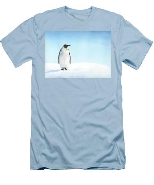 Men's T-Shirt (Slim Fit) featuring the painting Penguin Watercolor by Taylan Apukovska