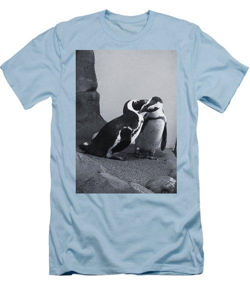 Penguins Men's T-Shirt (Slim Fit) by Sandy Taylor