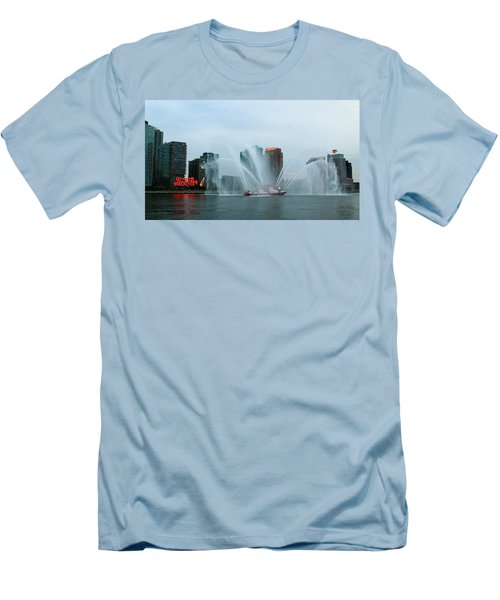 Pepsi Sign And Fdny  Men's T-Shirt (Athletic Fit)
