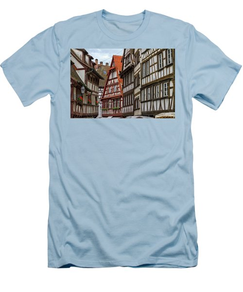 Petite France Houses, Strasbourg Men's T-Shirt (Athletic Fit)