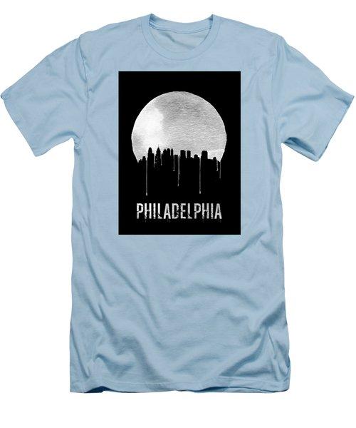 Philadelphia Skyline Black Men's T-Shirt (Athletic Fit)