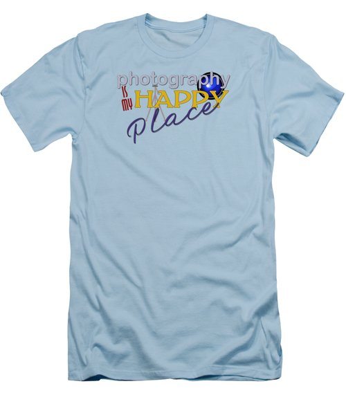 Photography Is My Happy Place Men's T-Shirt (Athletic Fit)