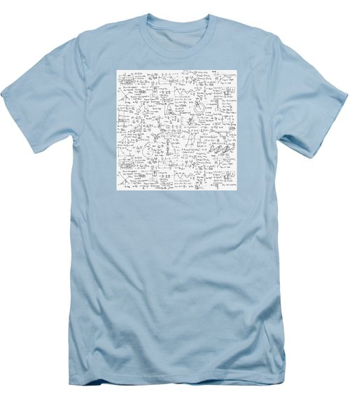 Men's T-Shirt (Slim Fit) featuring the drawing Physics Forms by Gina Dsgn