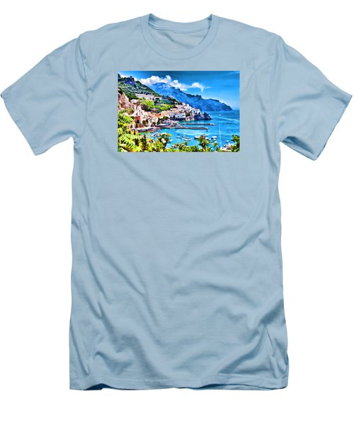 Picturesque Italy Series - Amalfi Men's T-Shirt (Slim Fit) by Lanjee Chee