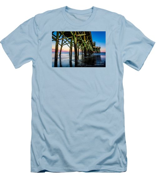 Pier Perspective Men's T-Shirt (Slim Fit) by David Smith