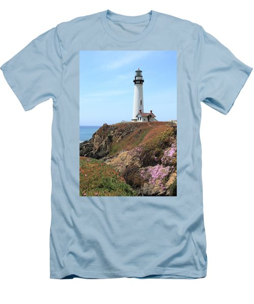 Pigeon Point Lighthouse 2 Men's T-Shirt (Slim Fit) by Lou Ford