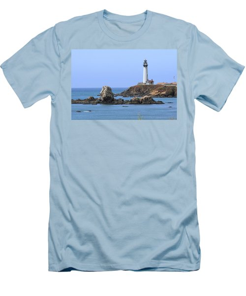 Pigeon Point Lighthouse Men's T-Shirt (Slim Fit) by Lou Ford
