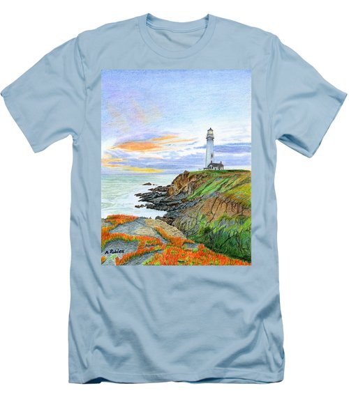 Pigeon Point Sunset Men's T-Shirt (Slim Fit) by Mike Robles