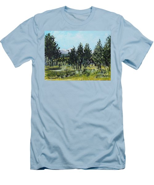 Pine Landscape No. 4 Men's T-Shirt (Athletic Fit)