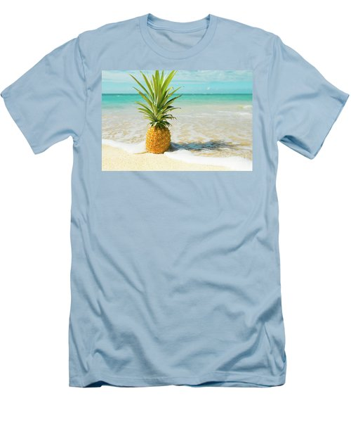 Men's T-Shirt (Athletic Fit) featuring the photograph Pineapple Beach by Sharon Mau