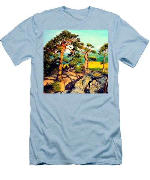Pines On The Rocks Men's T-Shirt (Athletic Fit)