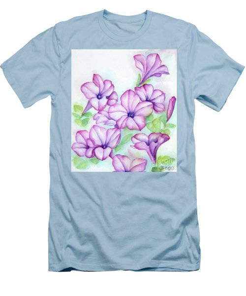 Pink And Purple Men's T-Shirt (Athletic Fit)