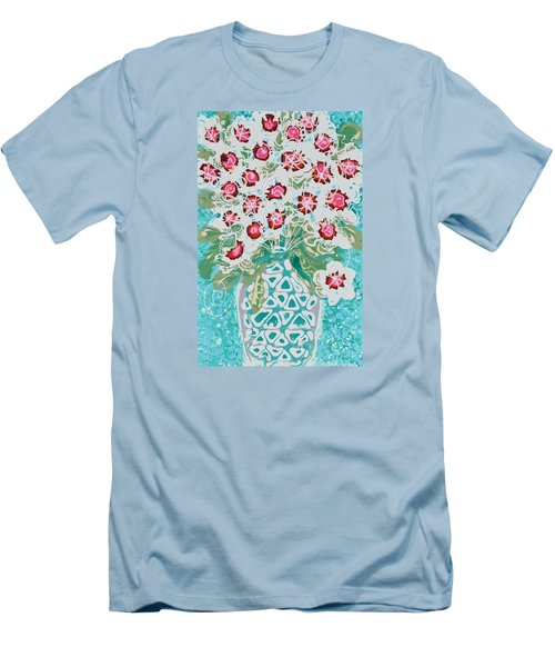 Pink And White Flowers Men's T-Shirt (Athletic Fit)