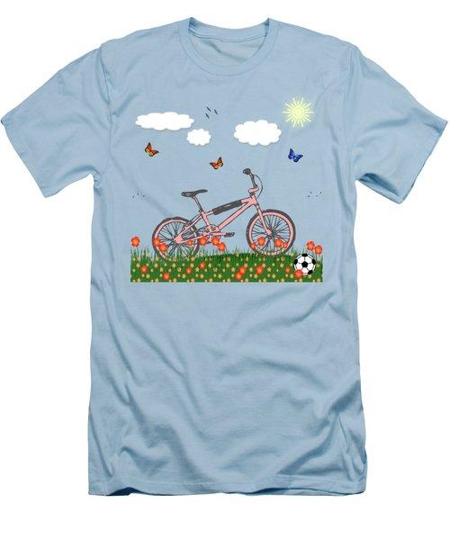 Pink Bicycle Men's T-Shirt (Slim Fit) by Gaspar Avila