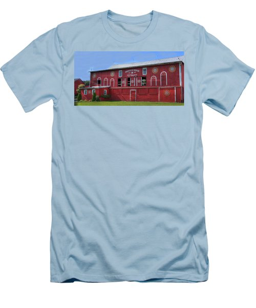 Men's T-Shirt (Slim Fit) featuring the digital art Pinnacle Ridge Winery by Sharon Batdorf