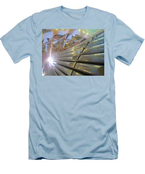 Men's T-Shirt (Slim Fit) featuring the photograph Pipe Organ Of La Sagrada by Christin Brodie