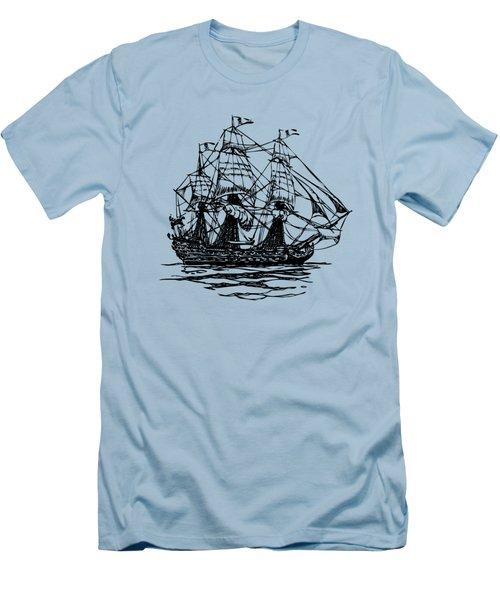Pirate Ship Artwork - Vintage Men's T-Shirt (Athletic Fit)