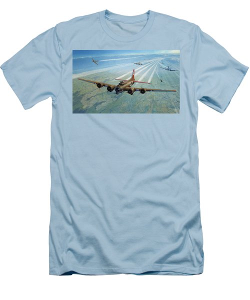 Men's T-Shirt (Slim Fit) featuring the photograph Plane by Test
