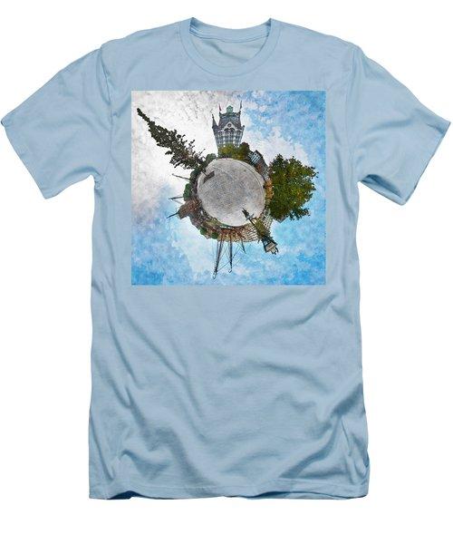 Planet Gelderseplein Rotterdam Men's T-Shirt (Slim Fit) by Frans Blok