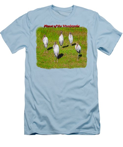 Planet Of The Woodstorks 2 Men's T-Shirt (Slim Fit) by John M Bailey