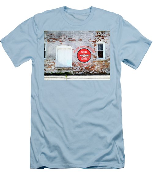 Men's T-Shirt (Slim Fit) featuring the digital art Play Ball With Flying A by Sandy MacGowan