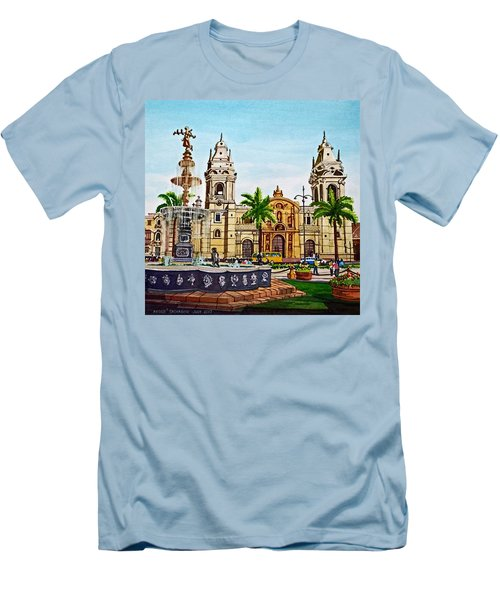 Plaza Armas, Cusco, Peru Men's T-Shirt (Athletic Fit)