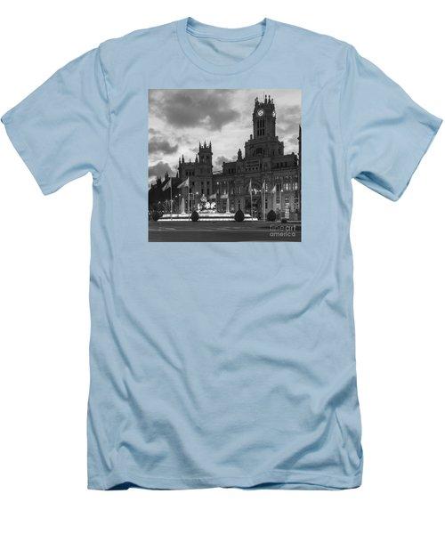 Plaza De Cibeles Fountain Madrid Spain Men's T-Shirt (Athletic Fit)