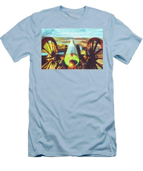 Point Park Cannon Men's T-Shirt (Slim Fit) by Steven Llorca