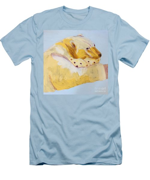 Polar Bear Men's T-Shirt (Slim Fit) by Donald J Ryker III