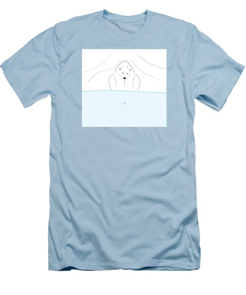 Polar Bear Reflection Men's T-Shirt (Athletic Fit)