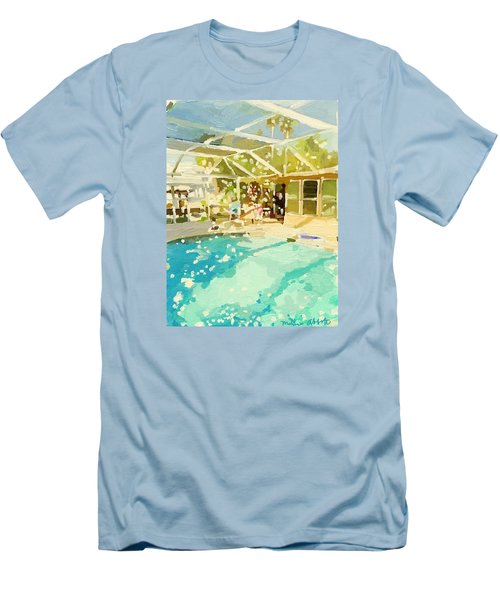 Pool And Screened Pool House Men's T-Shirt (Athletic Fit)