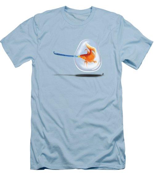 Popper Wordless Men's T-Shirt (Slim Fit) by Rob Snow