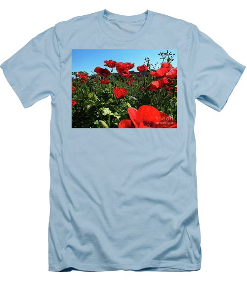 Poppies. Men's T-Shirt (Athletic Fit)