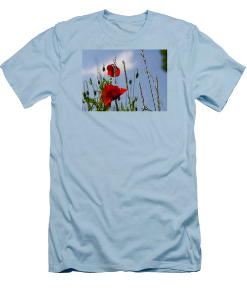 Poppies In The Skies Men's T-Shirt (Athletic Fit)