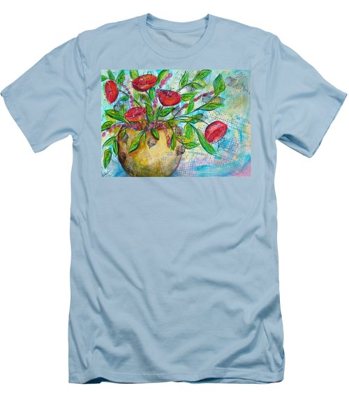 Poppies Men's T-Shirt (Slim Fit) by Karin Husty