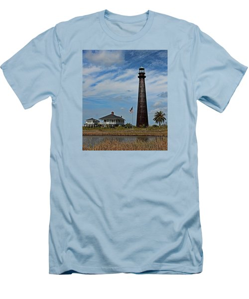 Port Bolivar Lighthouse Men's T-Shirt (Athletic Fit)