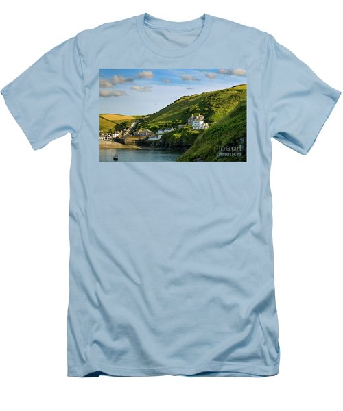 Men's T-Shirt (Slim Fit) featuring the photograph Port Issac Hills by Brian Jannsen