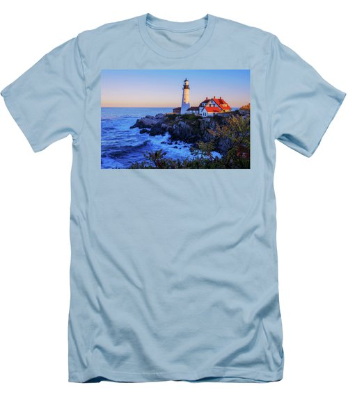 Portland Head Light II Men's T-Shirt (Slim Fit) by Chad Dutson