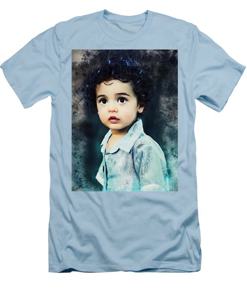 Portrait Of A Child Men's T-Shirt (Athletic Fit)