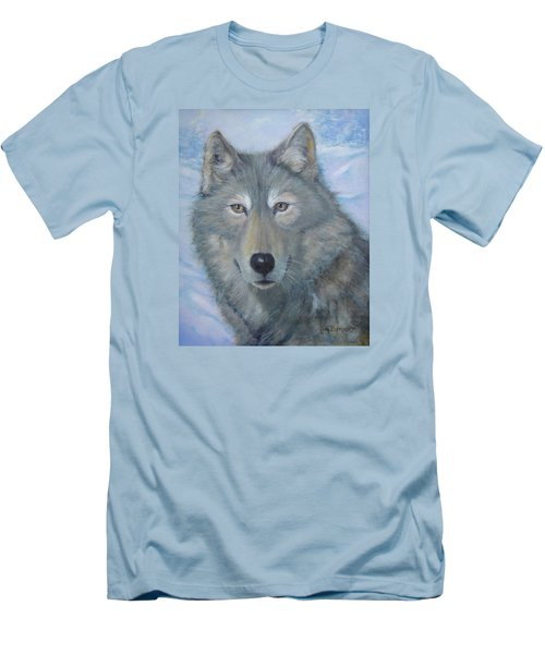 Portrait Of A Wolf Men's T-Shirt (Athletic Fit)