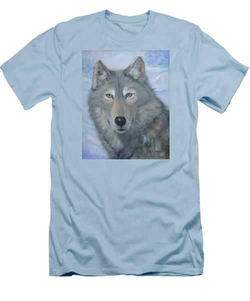 Portrait Of A Wolf Men's T-Shirt (Athletic Fit)