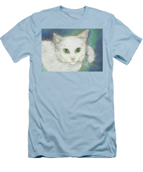 Men's T-Shirt (Slim Fit) featuring the drawing Portrait Of Misty by Denise Fulmer