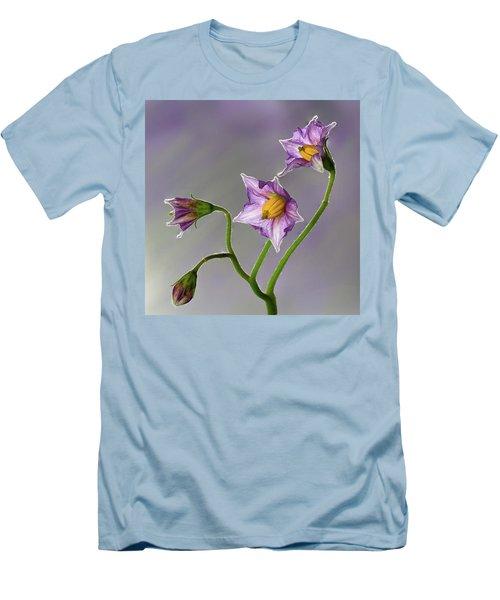 Potato Flowers Men's T-Shirt (Athletic Fit)