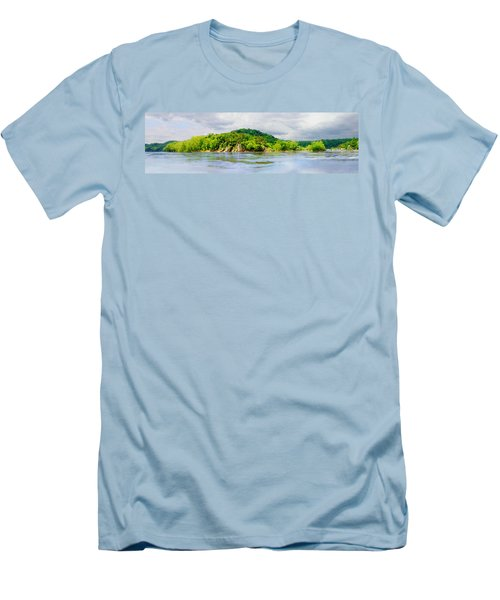 Men's T-Shirt (Slim Fit) featuring the photograph Potomac Palisaides by Francesa Miller