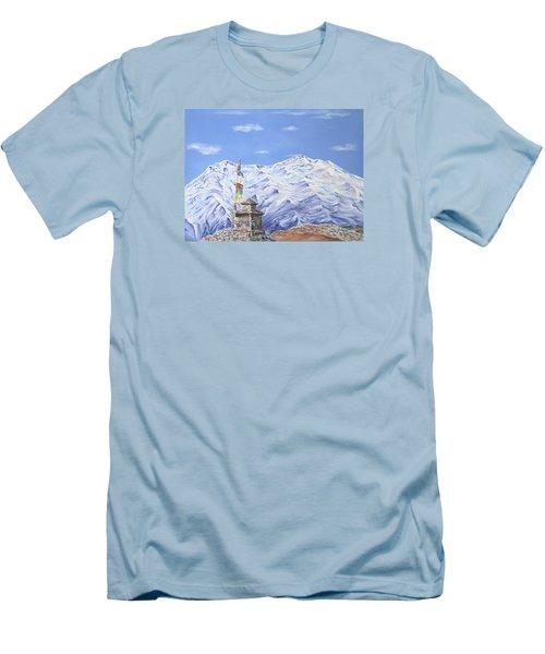 Prayer Flag Men's T-Shirt (Slim Fit) by Elizabeth Lock