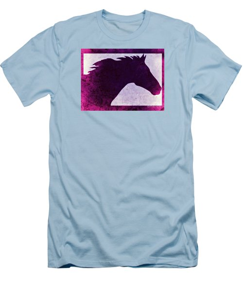 Men's T-Shirt (Slim Fit) featuring the digital art Pretty Purple Horse  by Mindy Bench