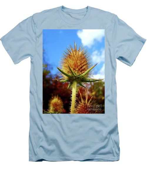 Prickly Thistle Men's T-Shirt (Slim Fit) by Nina Ficur Feenan