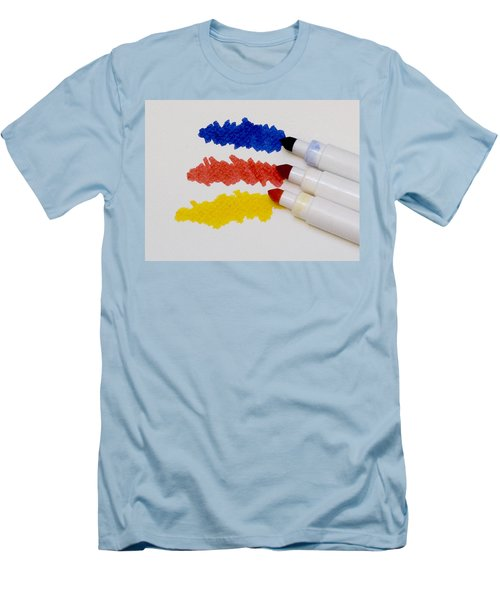 Primary Colors Men's T-Shirt (Slim Fit) by Marion McCristall