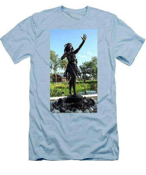 Princess Ulele Statue Men's T-Shirt (Athletic Fit)