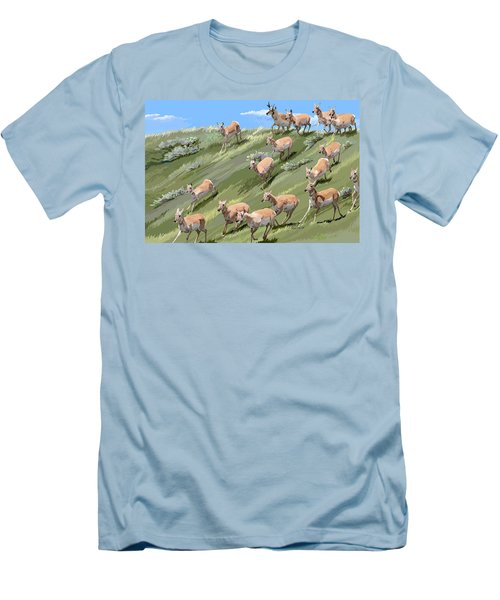 Pronghorn Promenade Men's T-Shirt (Athletic Fit)